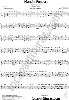 Easy Sheet Music with Spanish notes for flute, violin, oboe...