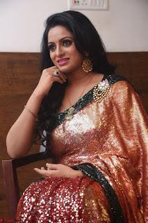 Udaya Bhanu lookssizzling in a Saree Choli at Gautam Nanda music launchi ~ Exclusive Celebrities Galleries 036.JPG