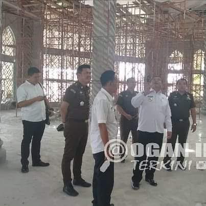 Bupati Dan Kejaksaan Periksa Progres Rehab Masjid Raya An Nur Dan Taman Kota