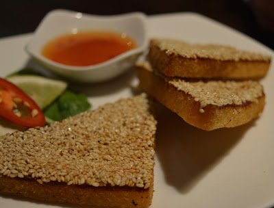Starter option - prawn toast from Mantra Thai, Newcastle Quayside