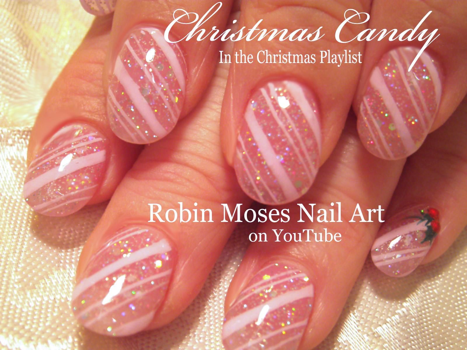 Nail Art by Robin Moses: Christmas Mouse! \