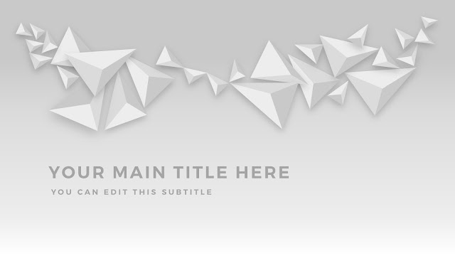 Free PowerPoint Abstract Polygons Title Template with Office Default Color Scheme