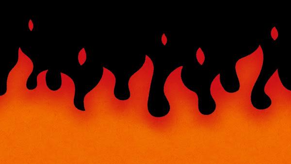 炎のイラスト(背景素材)