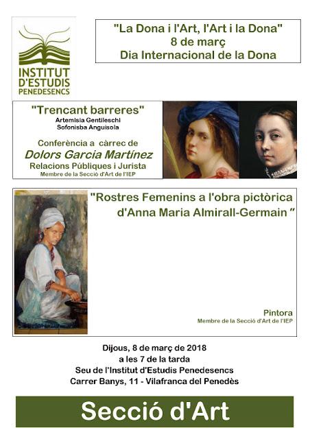 Esguard de Dona - Dia Internacional de la Dona - Institut d'Estudis Penedesencs - Vilafranca del Penedès  - La Dona i l'Art, l'Art i la Dona