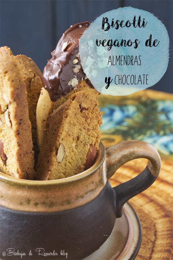 Biscotti veganos de almendras y chocolate con calabaza #sinhuevo