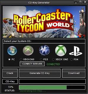 RollerCoaster Tycoon World Key Generator (Free CD Key)