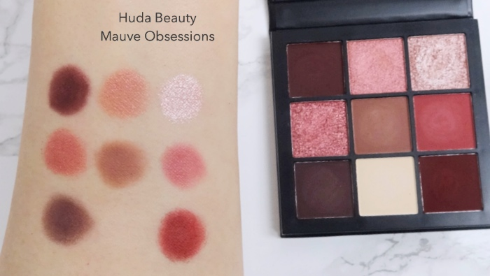 Huda Beauty Mauve Obsessions review swatches