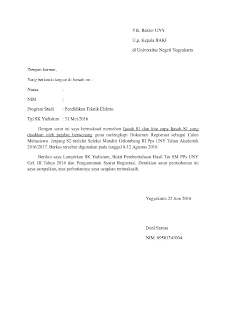 Contoh Surat Terbaru