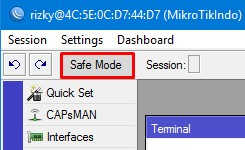 How to use Winbox Mikrotik Safe Mode