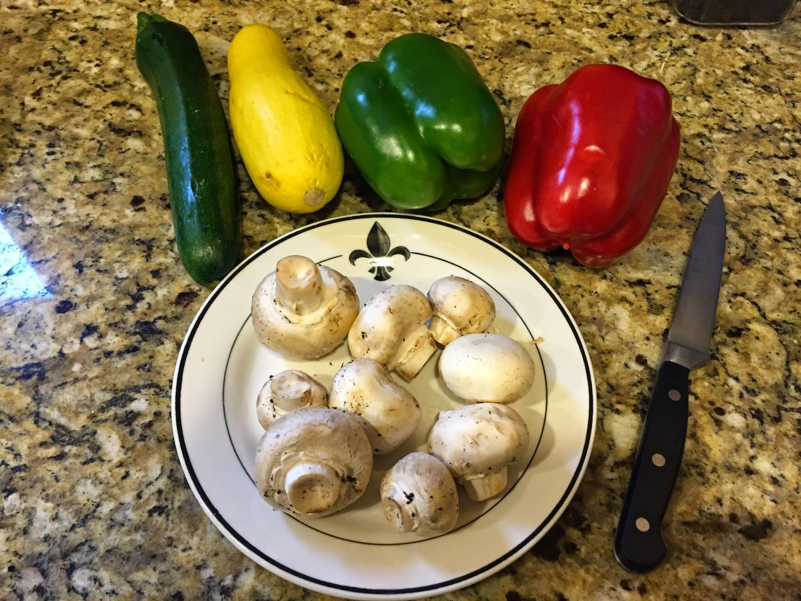 Vegetable preparation for pasta primavera