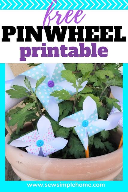 free printable pinwheel template