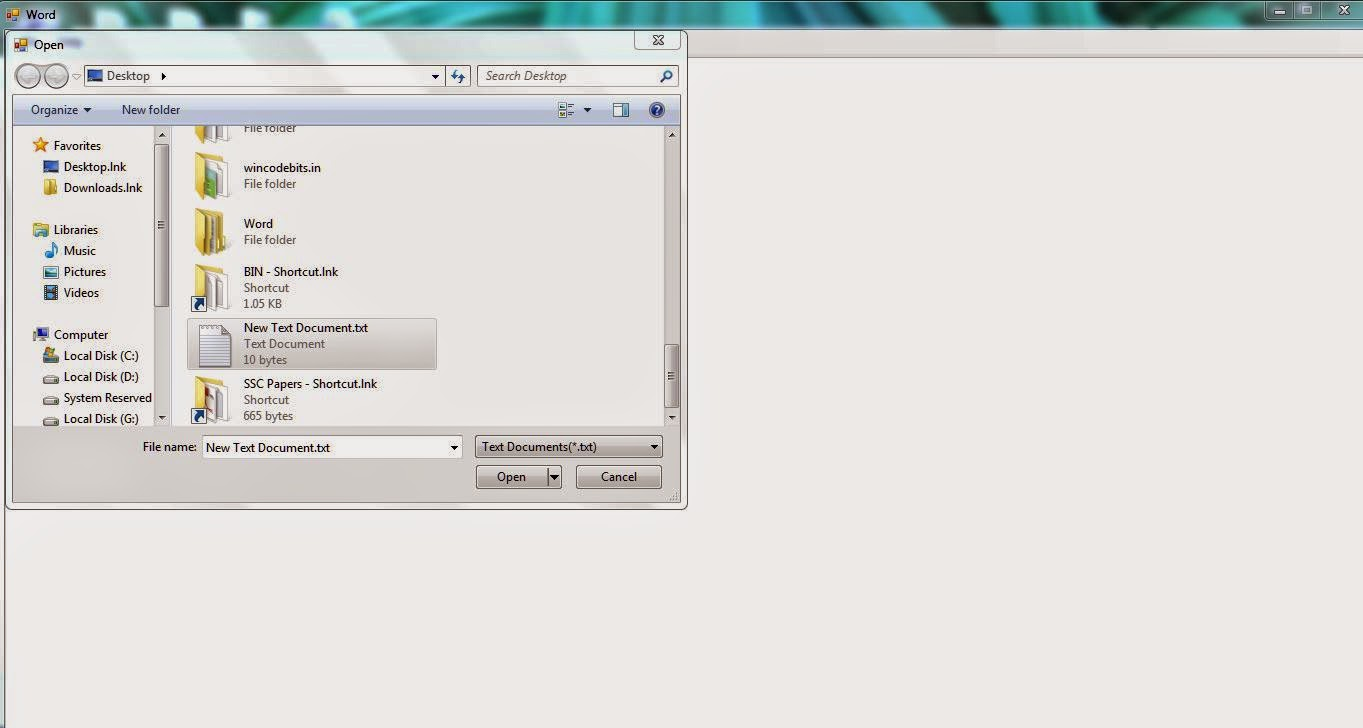 WordNote - Open a File
