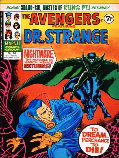 The Avengers #60, Dr Strange v Nightmare, Marvel UK