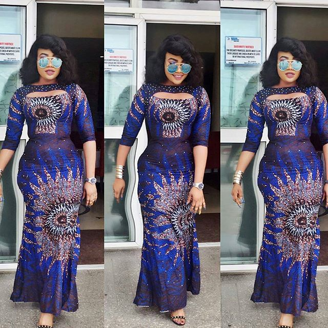 Cute Long Gown Ankara Styles for Beautiful Young Ladies - Zaineey\'s Blog