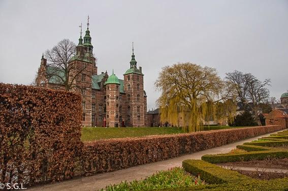 Vista del castillo de Rosemberg en Copenhague