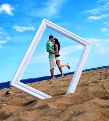 gaya foto kekinian di pantai terbaru