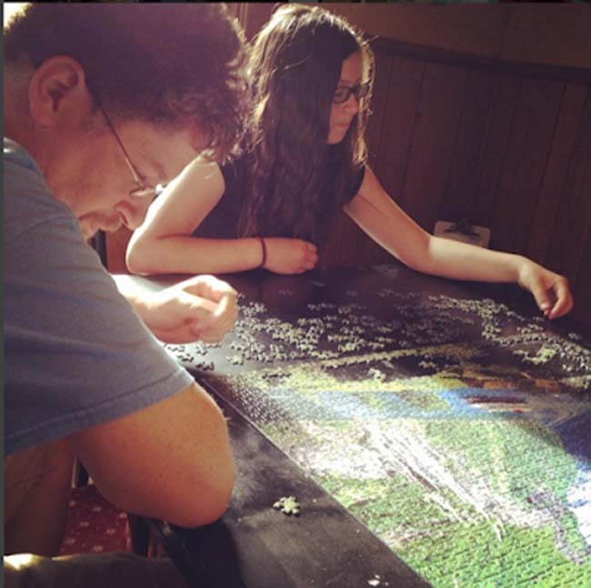 a puzzle is a great screen free activity to do with your kids