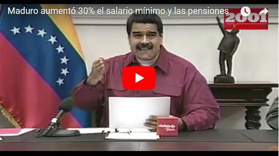Maduro aumenta el salario mínimo a 177.507 y la inflación no cabe en este titular