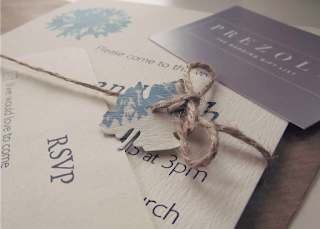 Handmade wedding invitation twine finished