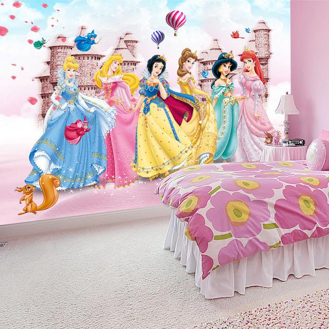 Disney Tapet Prinsessor Tjejtapet Tjejrum Barntapet Barnrum Fototapet