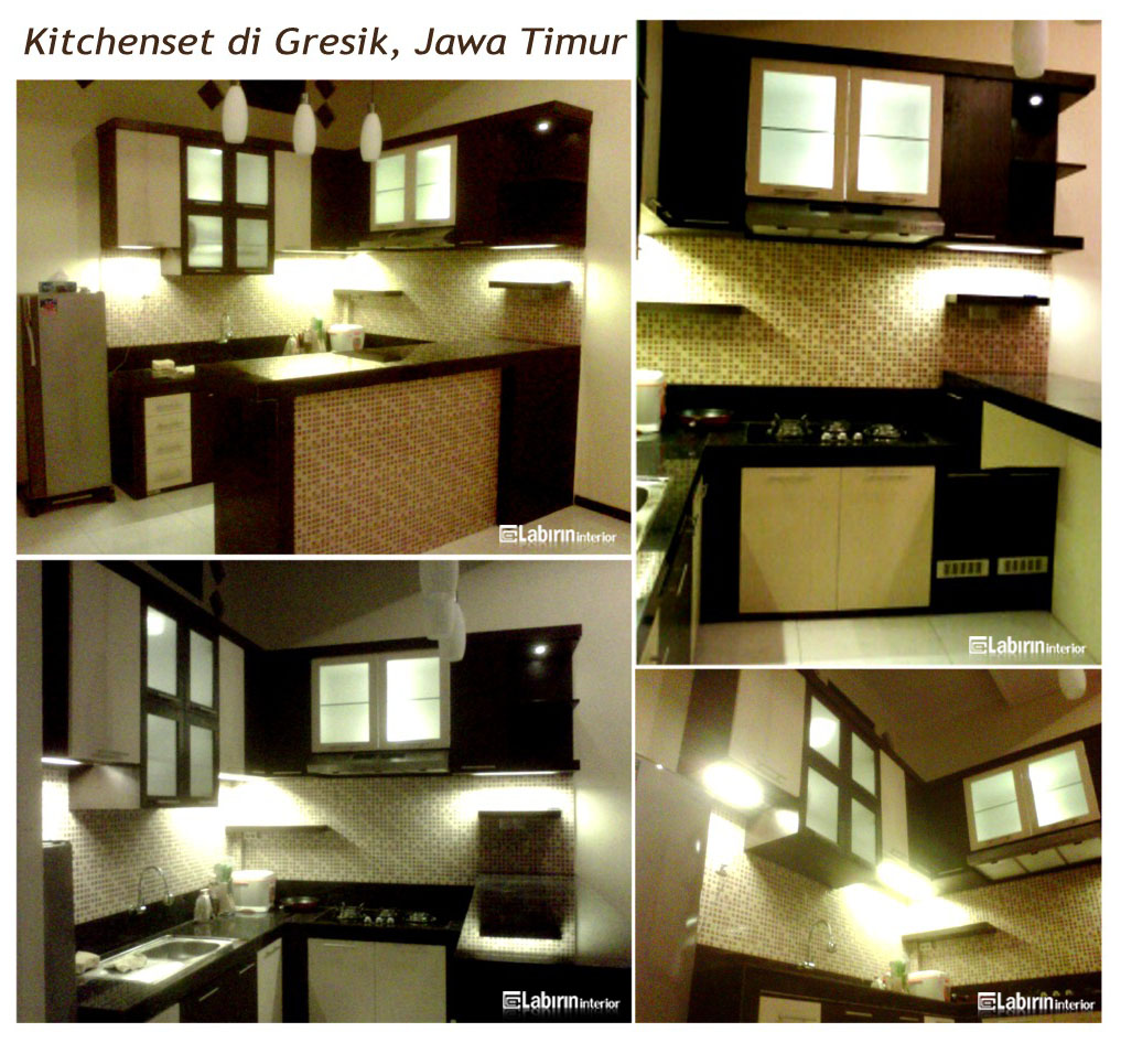 "Kitchen Set Surabaya: ""Brick Stone"" IBU SYAKINAH"