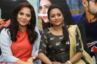Actress Suma in Black Salwar Suit and Anusuya in orange Dress at winner movie press meet part 2 February 2017 (70).JPG