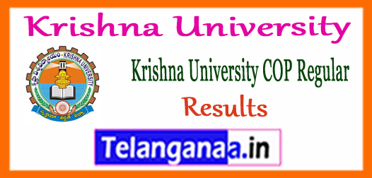 Krishna University M.Pharmacy 1st Semester COP Exam Results 2018
