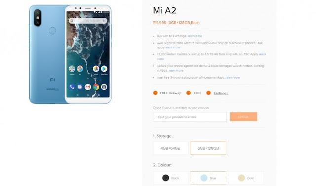 2018 Xiaomi Mi A2 Menggunakan RAM 6GB