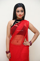 Aasma Syed in Red Saree Sleeveless Black Choli Spicy Pics ~  Exclusive Celebrities Galleries 070.jpg
