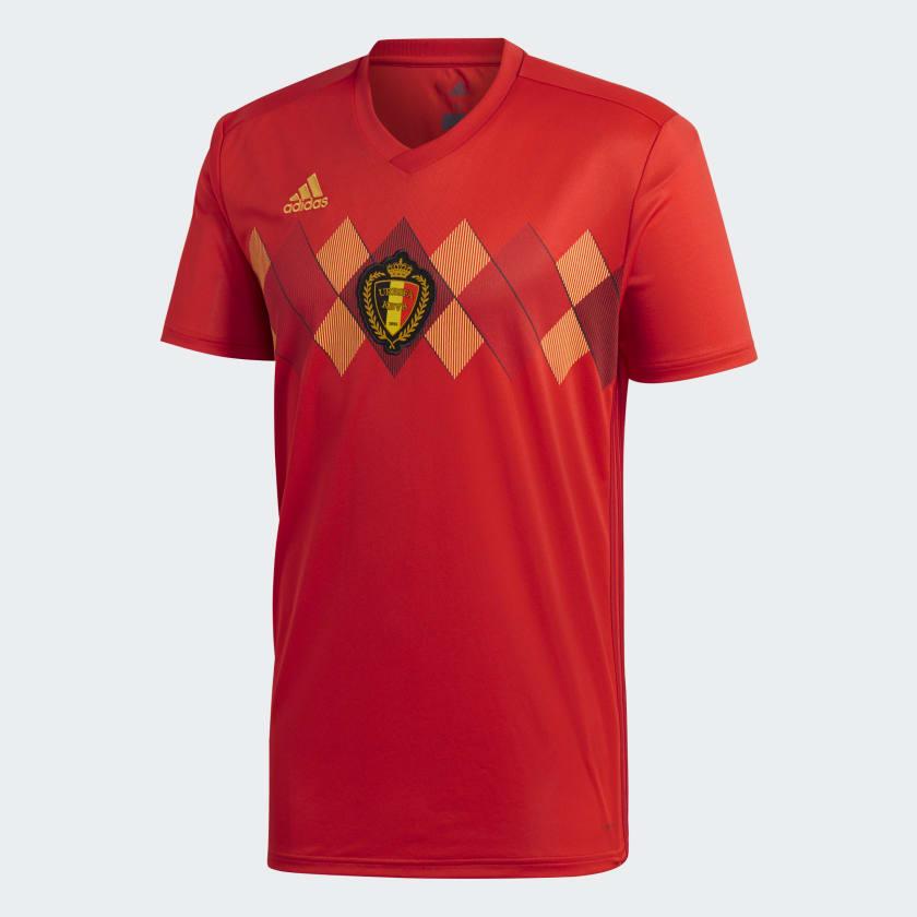 Kits Jersey Home Kandang Belgia Piala Dunia 2018