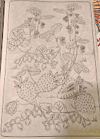 super cute strawberrieson vine ready to color AdultColoringBook markers colored pencils Hobby Lobby