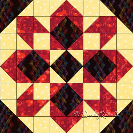 Starglow Block Free Quilt Pattern
