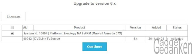 "Screenshot: ""Upgrade to version 6.x"""