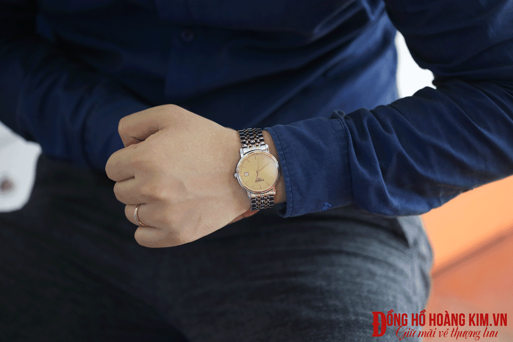 đồng hồ đeo tay nam dây sắt đẹp