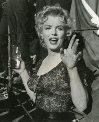 Fotografías de Marilyn Monroe durante los rodajes