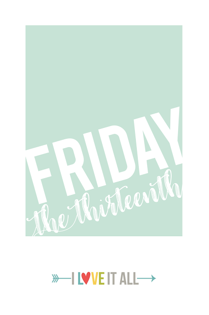#project life #scrapbooking #travelers notebook #Midori #printable #Friday the 13th #TGIF