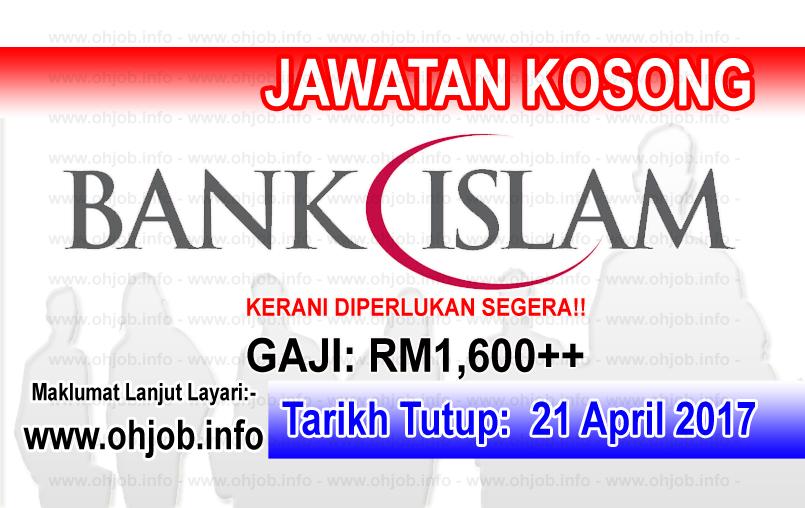 Jawatan Kerja Kosong BIMB - Bank Islam logo www.ohjob.info april 2017