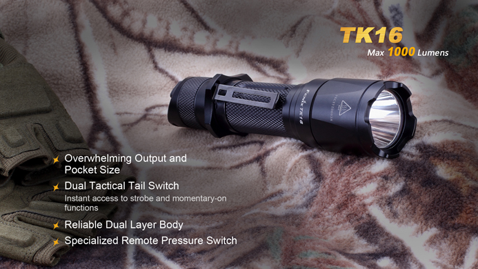 Fenix TK16 CREE LED 1000 lumen tactical flashlight Upgrade from TK22
