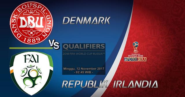 Denmark vs Republik Irlandia 12 November 2017