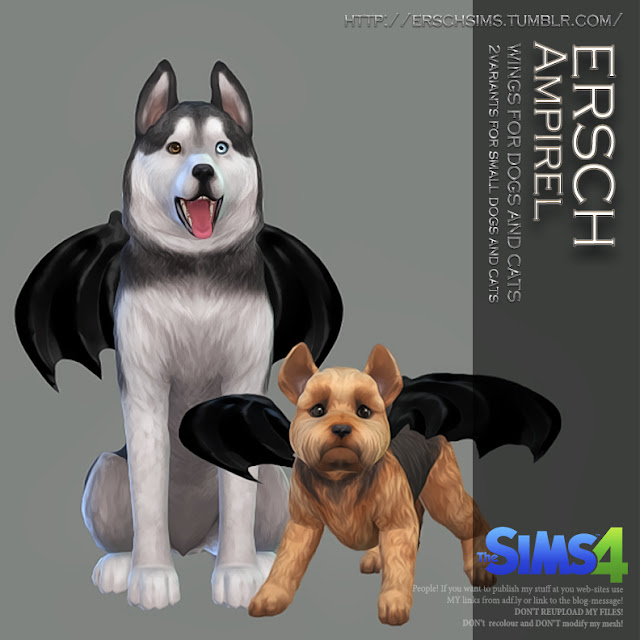 ERSCH - Ampirel Wings for pets TS4 | ErSch Sims