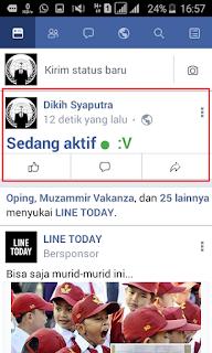 Lagi Viral Cara Buat Status Sedang Aktif Keren Di Facebook Droid Ceel