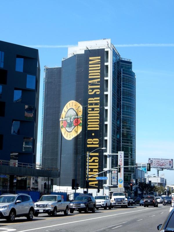 Giant Guns N Roses tour billboard Sunset Strip