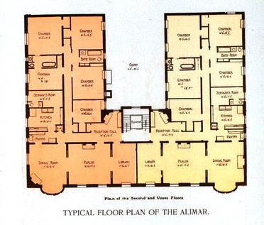 Two Large Apartments Shared A Floor The World S New York Apartment House Al 1901 Copyright Expired