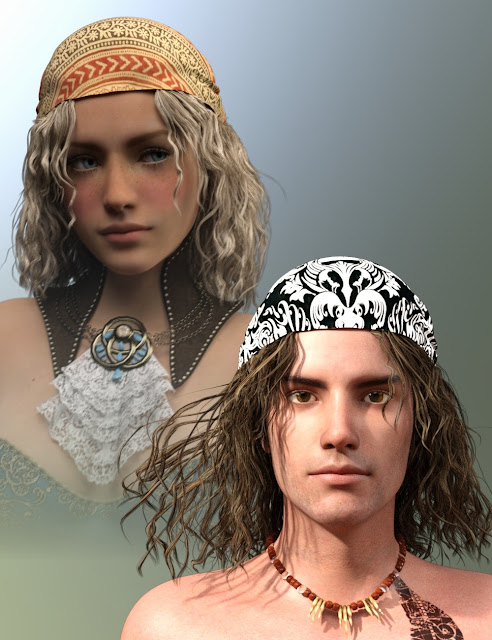 Fortuna Hair for Genesis 3 Male and Female