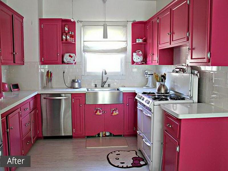 Dapur Dengan Kitchen Set Yang Bersih Dan I