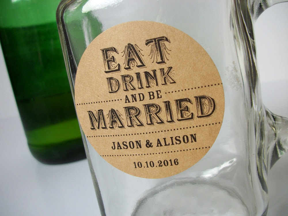 custom wedding labels