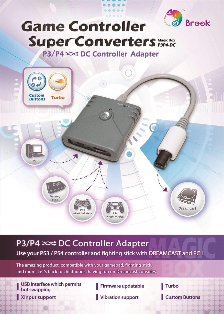 The Dreamcast Junkyard Dual Shock 4 Compatibility Heading To Dualshock 2 Wiring Diagram Game Controller Super Converter Allows Your Plug Playstation 3 And Controllers Into Via Usb Also For Fight