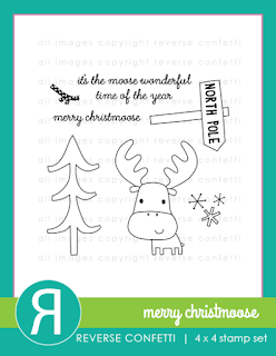 merry christmoose stamp set
