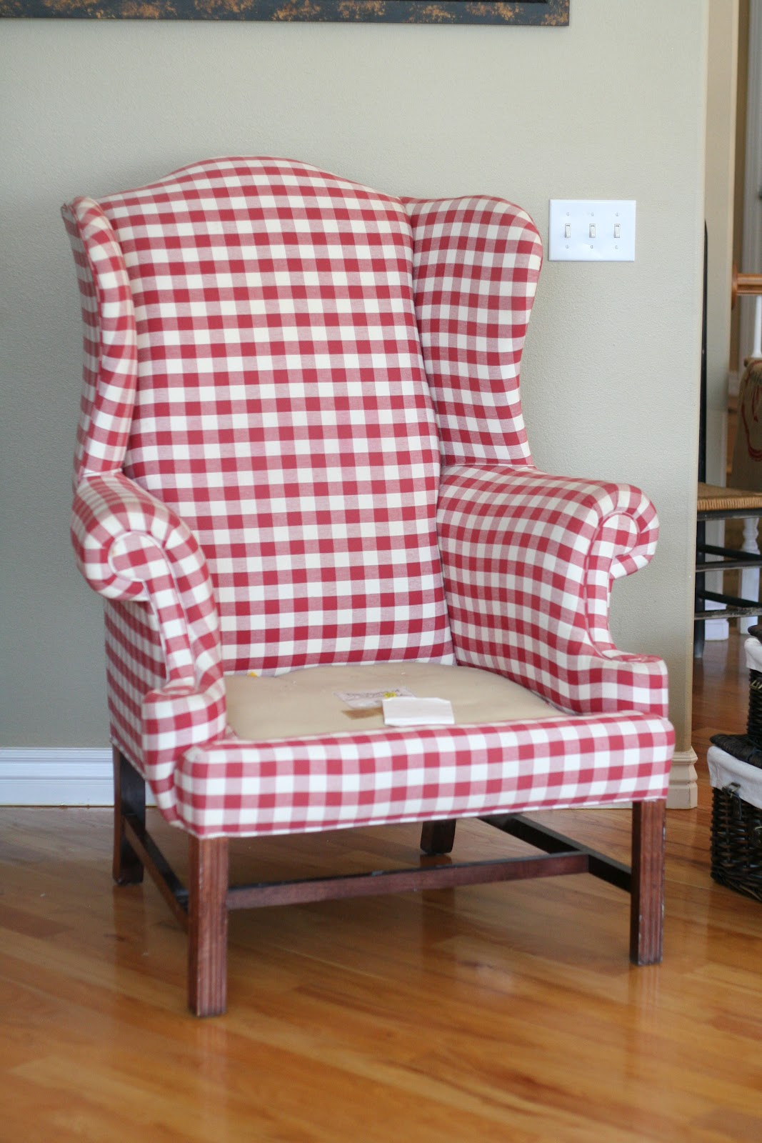 Red Wingback Chair Slipcover Metal Patio Chairs Target Custom Slipcovers By Shelley Ladies And Gentleman Damask