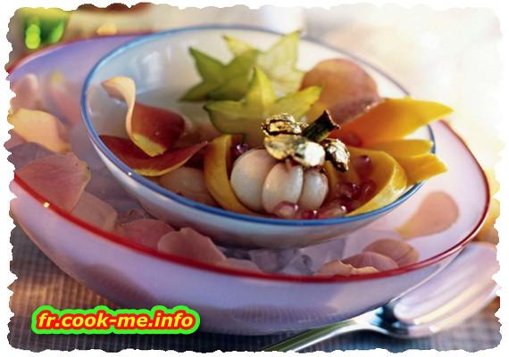 Fruits exotiques à l'eau de rose